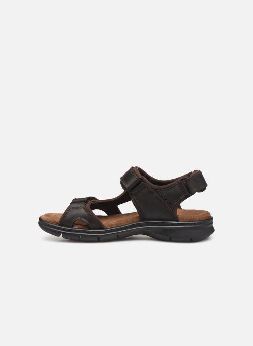 Sandales et nu-pieds Panama Jack Salton Marron vue face
