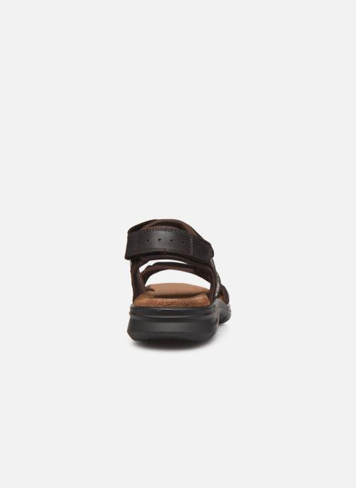 Sandalen Panama Jack Salton braun ansicht von rechts
