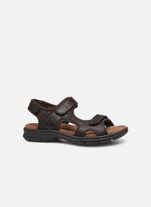 Sandales et nu-pieds Panama Jack Salton Marron vue derrière