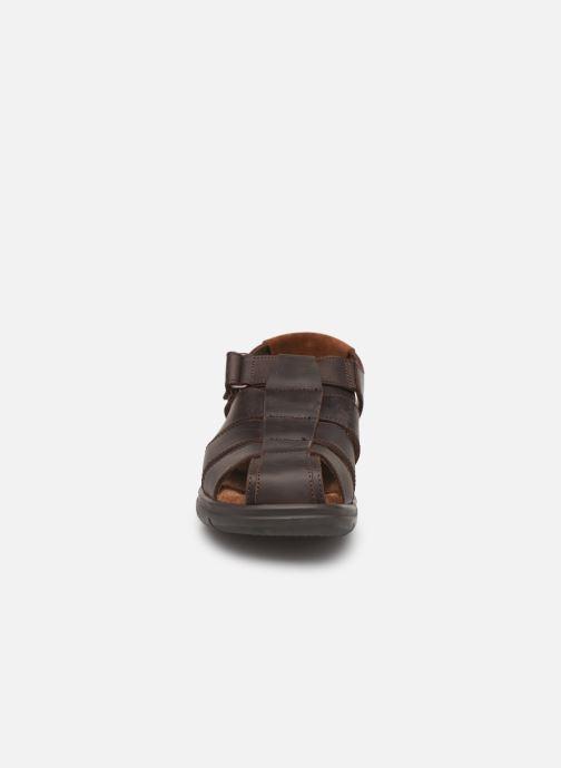Sandales et nu-pieds Panama Jack Sauron Marron vue portées chaussures