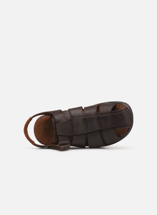 Sandales et nu-pieds Panama Jack Sauron Marron vue gauche