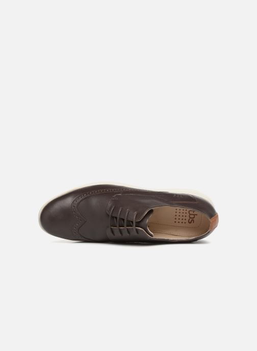 Lace-up shoes TBS Roadmap Brown view from the left
