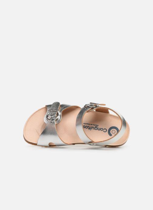 Sandales et nu-pieds Conguitos Hema Argent vue gauche