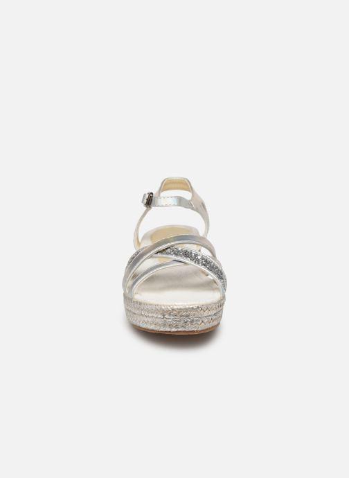Espadrilles Fresas by Conguitos Adella Argent vue portées chaussures