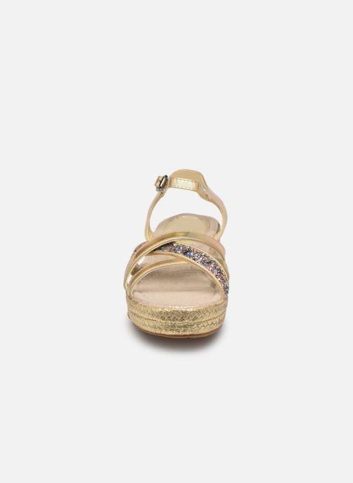 Espadrilles Fresas by Conguitos Adella Or et bronze vue portées chaussures