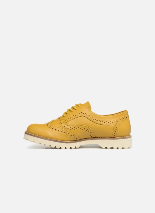 Zapatos con cordones Les P'tites Bombes GISELE Amarillo vista de frente