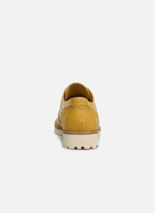 Zapatos con cordones Les P'tites Bombes GISELE Amarillo vista lateral derecha