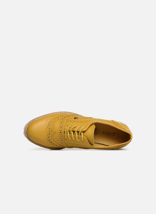 Zapatos con cordones Les P'tites Bombes GISELE Amarillo vista lateral izquierda