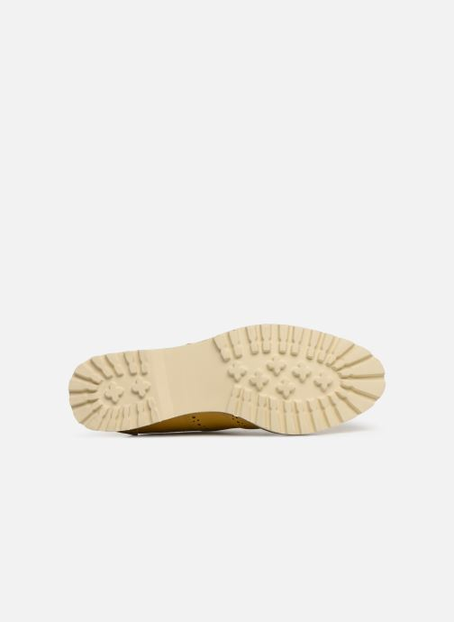 Zapatos con cordones Les P'tites Bombes GISELE Amarillo vista de arriba