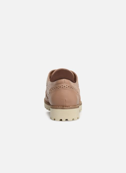 Zapatos con cordones Les P'tites Bombes GISELE Beige vista lateral derecha
