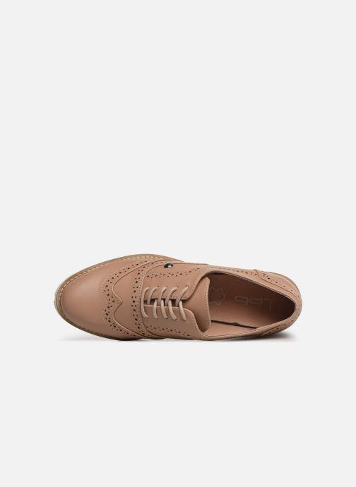 Zapatos con cordones Les P'tites Bombes GISELE Beige vista lateral izquierda
