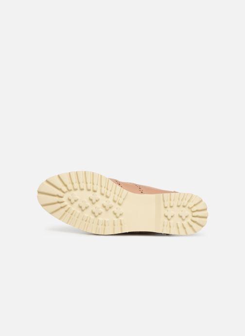 Zapatos con cordones Les P'tites Bombes GISELE Beige vista de arriba