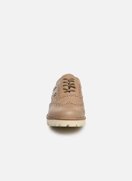 Zapatos con cordones Les P'tites Bombes GISELE Marrón vista del modelo