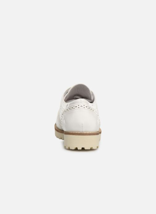 Zapatos con cordones Les P'tites Bombes GISELE Blanco vista lateral derecha