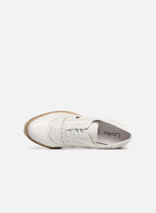 Zapatos con cordones Les P'tites Bombes GISELE Blanco vista lateral izquierda