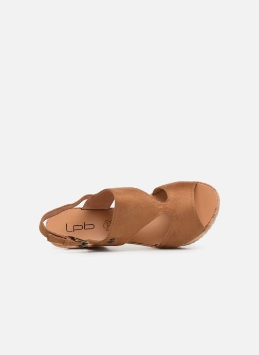 Sandales et nu-pieds Les P'tites Bombes JACINTHE Marron vue gauche