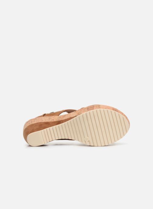 Sandales et nu-pieds Les P'tites Bombes JACINTHE Marron vue haut