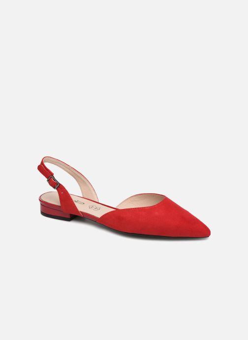 Ballerinaer Les P'tites Bombes KAREN Rød detaljeret billede af skoene