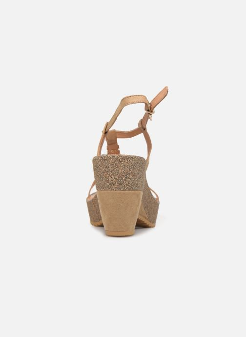 Sandals Les P'tites Bombes MAEVA Beige view from the right