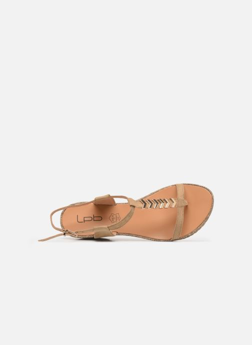 Sandals Les P'tites Bombes MAEVA Beige view from the left