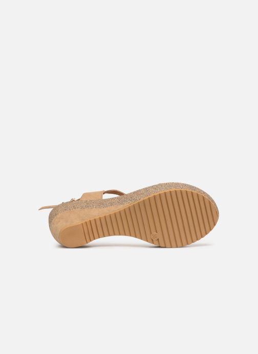 Sandals Les P'tites Bombes MAEVA Beige view from above