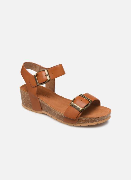 Sandaler Les P'tites Bombes MARIELLE Brun detaljeret billede af skoene