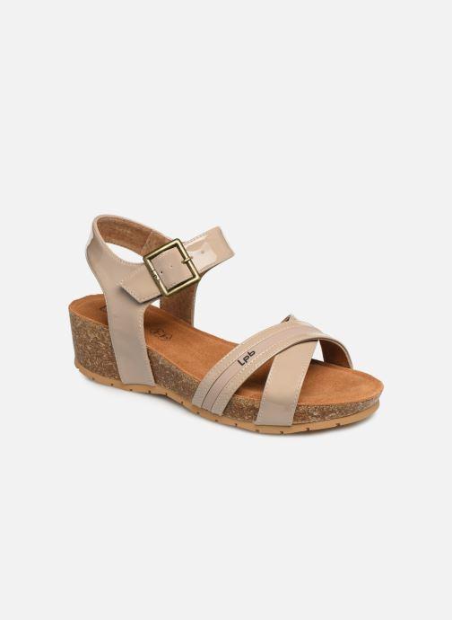 Sandaler Les P'tites Bombes MEGAN Beige detaljeret billede af skoene