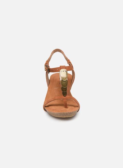 Sandales et nu-pieds Les P'tites Bombes MILA Marron vue portées chaussures