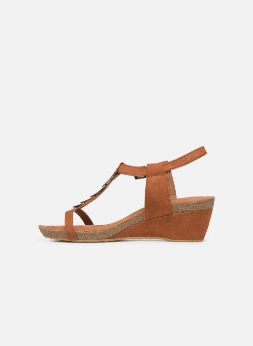 Sandals Les P'tites Bombes MILA Brown front view