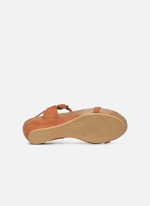 Sandales et nu-pieds Les P'tites Bombes MILA Marron vue haut