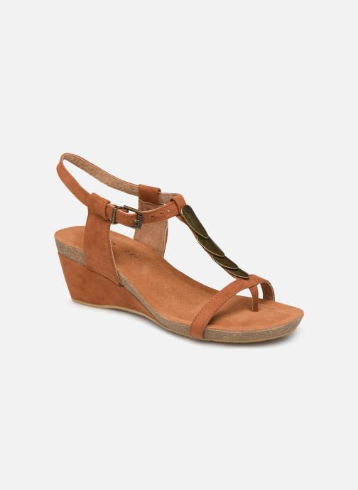 Sandals Les P'tites Bombes MILA Brown detailed view/ Pair view