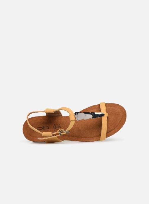 Sandales et nu-pieds Les P'tites Bombes MILA Jaune vue gauche