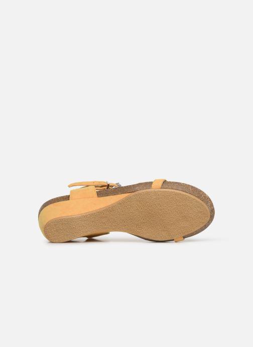 Sandales et nu-pieds Les P'tites Bombes MILA Jaune vue haut