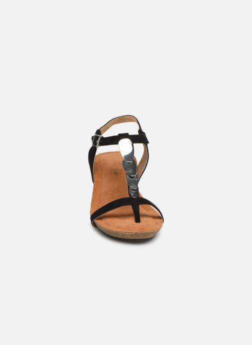 Sandales et nu-pieds Les P'tites Bombes MILA Noir vue portées chaussures