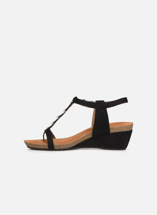 Sandales et nu-pieds Les P'tites Bombes MILA Noir vue face