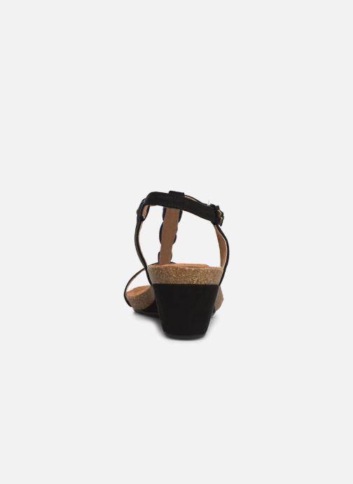 Sandales et nu-pieds Les P'tites Bombes MILA Noir vue droite