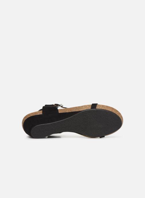 Sandales et nu-pieds Les P'tites Bombes MILA Noir vue haut