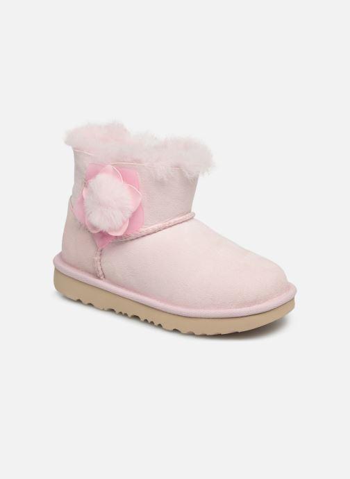 Støvler & gummistøvler UGG K Mini Bailey II Cactus Flower Pink detaljeret billede af skoene