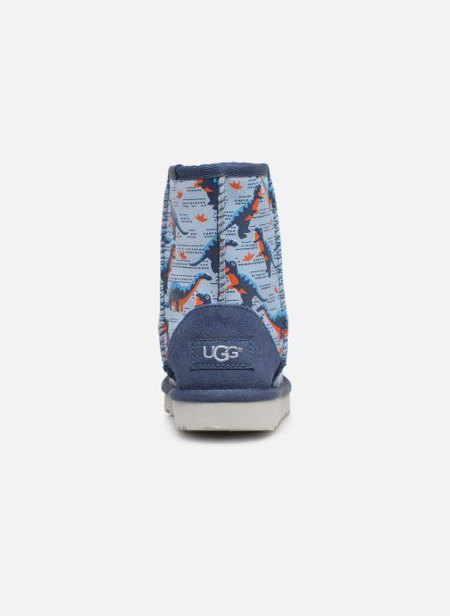 Bottes UGG Classic Short II Desert Dino K Bleu vue droite