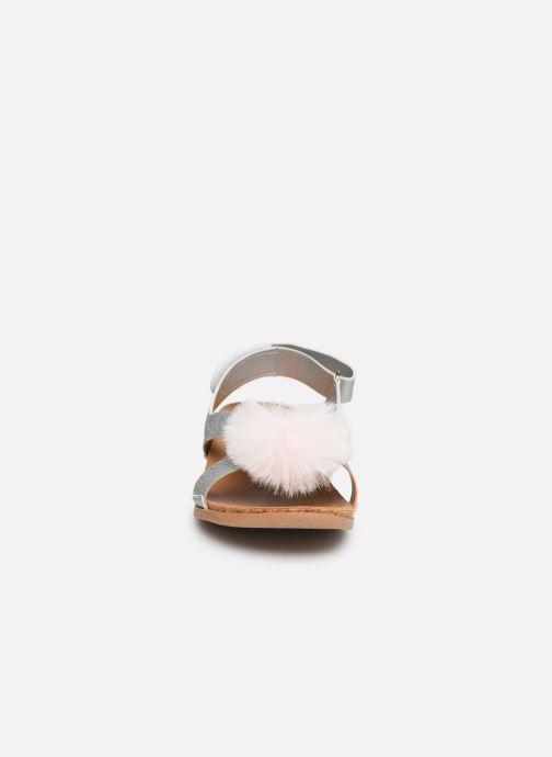 Sandales et nu-pieds UGG Fonda Glitter Pom K Argent vue portées chaussures