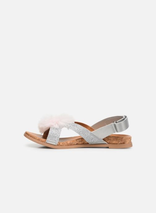Sandali e scarpe aperte UGG Fonda Glitter Pom K Argento immagine frontale
