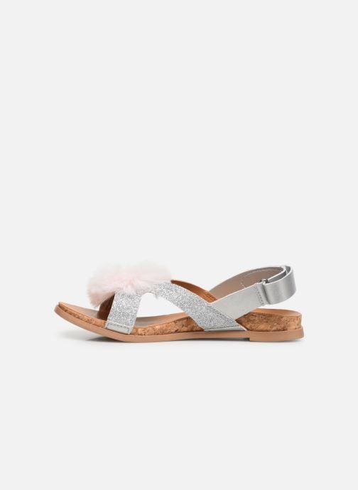 Sandales et nu-pieds UGG Fonda Glitter Pom K Argent vue face