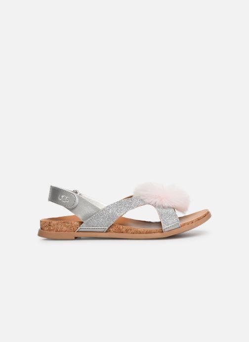 Sandales et nu-pieds UGG Fonda Glitter Pom K Argent vue derrière