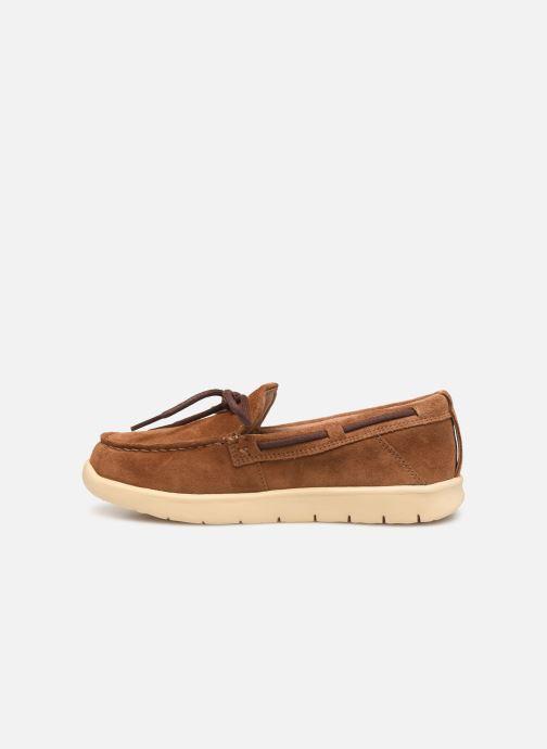 Chaussures à lacets UGG Beach Moc Slip-On K Marron vue face