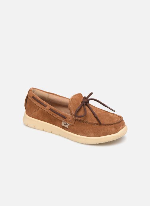 Chaussures à lacets UGG Beach Moc Slip-On K Marron vue détail/paire