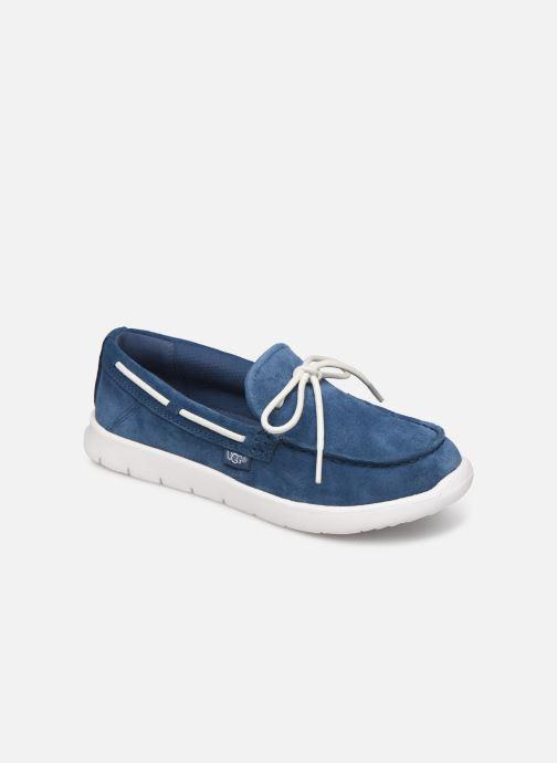 Chaussures à lacets UGG Beach Moc Slip-On K Bleu vue détail/paire