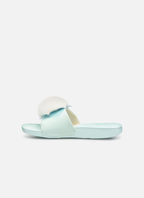 Sandales et nu-pieds UGG Cactus Flower Slide K Bleu vue face