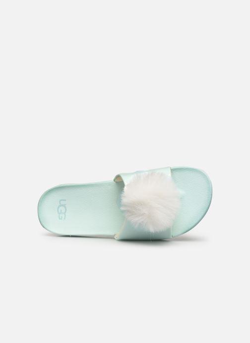 Sandales et nu-pieds UGG Cactus Flower Slide K Bleu vue gauche