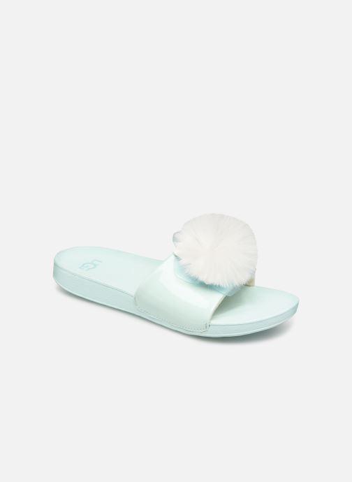 Sandales et nu-pieds UGG Cactus Flower Slide K Bleu vue détail/paire