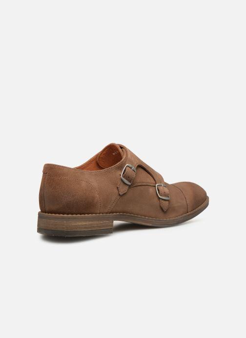 Schuhe mit Schnallen Mr SARENZA Niboucla braun ansicht von vorne